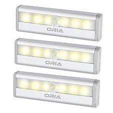 oria motion sensor light 6 led sensing closet light stick anywhere srs light battery powered night light safe light with magnetic strip for home