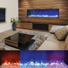 amantii fire and ice built in electric fireplace with 72x15 inch