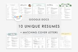 Resume Template Google Docs 10x Resume Templates Creative Market