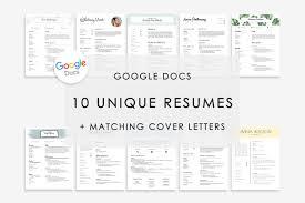 Resume Template Google Docs 10x Resume Templates Creative Market