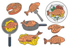 Free Fish Fry Icons Vector Download Free Vectors Clipart