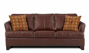 brown leather sectional couches. Beautiful Brown Simmons Brown Leather Sectional Couch With 2 Pillows On Couches