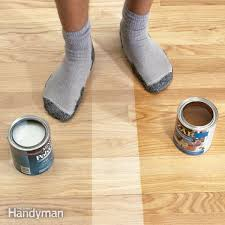 acrylic polyurethane floor finish has a lighter appearance and dries faster than oil based polyurethane