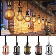 pendant ceiling light fittings retro vintage antique rustic tones brand new s