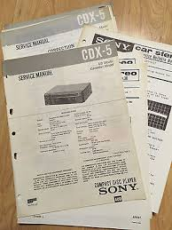 original sony service manual for the cdx 5 cd player • 14 98 original sony service manual for the cdx 5 cd player