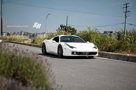 ferrari 2014 white. sr auto white ferrari 458 spider front side 2014