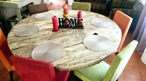 diy round table round shaped pallet dining table diy table saw