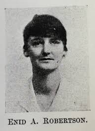 Biography of Enid Aimee Robertson. Enid A Robertson, MBChB 1921. Enid Aimée Robertson graduated MBChB from the University in 1921, and was posted to various ... - UGSP01709_m