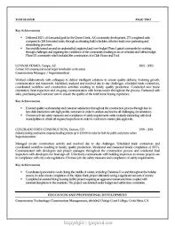 Top Assistant Construction Manager Resume Construction Manager