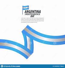 Argentina Banner Design Happy Argentina Independence Day Celebration Poster Ribbon