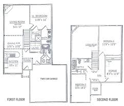 2 story house plans with basement. Contemporary Plans 3 Bedrooms Floor Plans 2 Story   Bdrm Basement The Two Three Bedroom  Townhome Plan In Story House Plans With Basement Pinterest