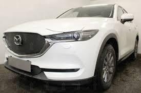 Mazda CX-5 (17–) <b>Защита радиатора Premium</b>, <b>чёрная</b>, низ в г ...