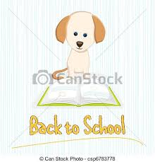 dog reading book csp6783778