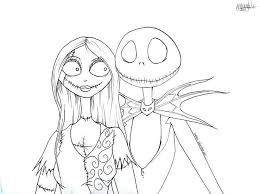 The Nightmare Before Christmas Coloring Pages Free Pictures Jack