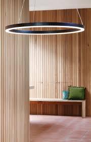 the beacon lighting ledlux circa ring 600mm 1600 lumen dimmable led pendant in black