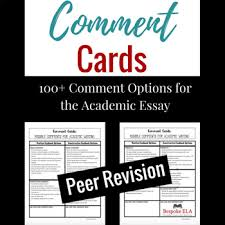 Comment Cards For Academic Essay Writing Helping Students Give