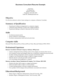 doc business management resume objective examples example business resume template