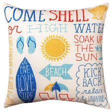 Beach Design Pillows Amazon Com Kensington Row Coastal Collection Throw Pillows