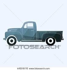 Classic pickup truck Clipart k40316770