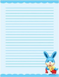 free halloween stationery templates free writing page cute bunny single lined writing paper template