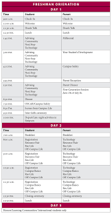 Sample Of Schedules Sample Schedules Orientation Loyola University Chicago
