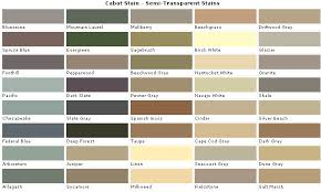 Cabot Semi Transparent Stain Color Chart Cabot Transparent Wood Stain Colors Fence And Deck Stains