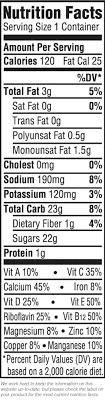 dark chocolate almondmilk singles nutrition label