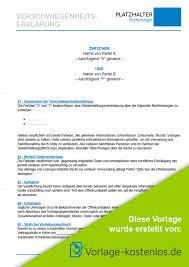 Kooperationsvertrag template kostenlos   muster für vertrag über eine partnerschaft zwischen unternehmen als pdf & word herunterladen. Verschwiegenheitserklarung Kostenloses Muster Als Word Download