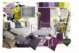 attractive purple yellow and grey bedroom including color scheme rug awesome collection images