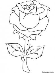 valentines day rose coloring pages printable coloring pages for kids