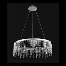 19 2w led large ring crystal drop pendant