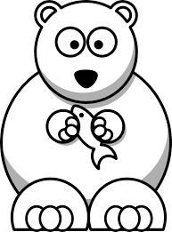 lemmling cartoon bear black white line art xmas stuffed 555px png