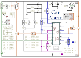 how to build a simple car alarm and immobilizer Alarm Relay Wiring Diagram pcb, circuit diagram of an easy to build electronic car alarm fire alarm relay wiring diagrams