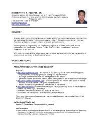 Resume Example Singapore