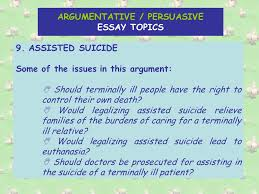 the argumentative persuasive essay there are main methods of  11 argumentative persuasive essay topics 9 assisted suicide
