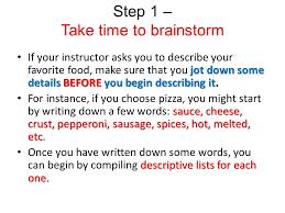 descriptive essay ppt video online  6 step