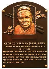 ruth babe baseball hall of fame