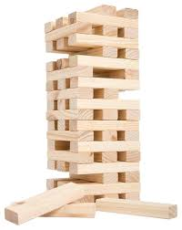 nontraditional giant wooden blocks tower stacking game yard game by hey
