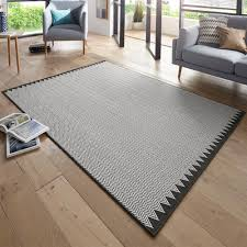 Design Teppich Schlingenteppich Ida Schwarz Creme