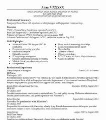 Resume Sample For Nursing Er Nurse Resume Sample Nursing Resumes Livecareer