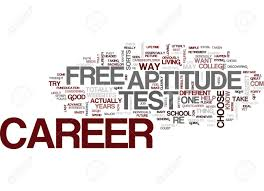 Free Aptitude Test Online Free Career Aptitude Test Text Background Word Cloud Concept Royalty