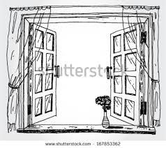 window drawing. Contemporary Window Illustration Of Opened Window Inside Window Drawing D