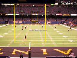 New Orleans Saints Superdome Seating Chart Interactive Map