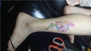 Beautiful Leg Sleeve Tattoo Small Flower Tattoo Ideas For Women