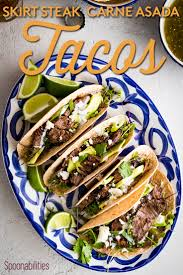 As with any of our recipes, carb counts, calorie counts and nutritional information varies greatly depending on which if you love our crock pot steak tacos…or just steak tacos in general, then you are gonna love how quickly you can have them with this instant pot. Skirt Steak Tacos Recipe Carne Asada Tacos Spoonabilities