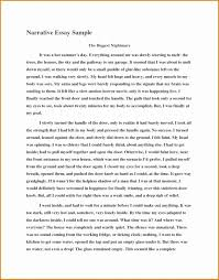 Examples Of Narrative Essay About Yourself Pdf Example Short