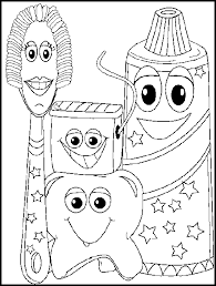 Small Picture Dentist Coloring Pages for Kids