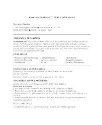 Pharmacy Tech Resume Sample Resume Template Directory