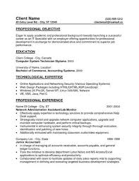 General Resume Objective For Entry Level General Resume Objective