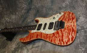 anderson drop top classic red maple stratocaster guitar culture tom anderson drop top classic red quilt top maple